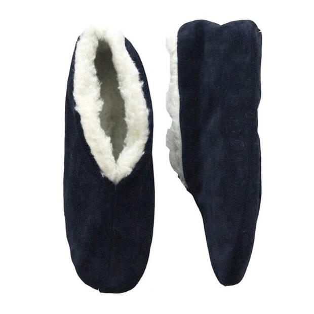 Navy blauwe Spaanse sloffen/pantoffels voor dames/heren 40