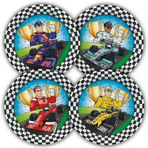 8x Race/Formule 1 thema bordjes 23 cm