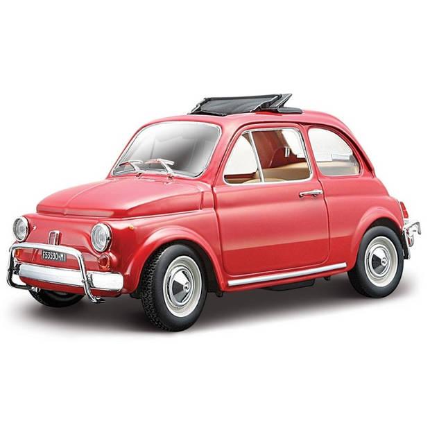 Modelauto Fiat 500 L 1968 rood 1:24 - speelgoed auto schaalmodel