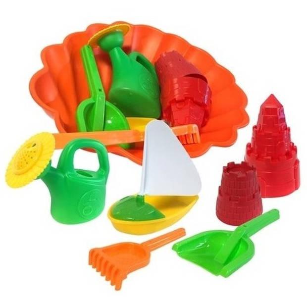 Speelgoed strand set met zandvormen 7 delig
