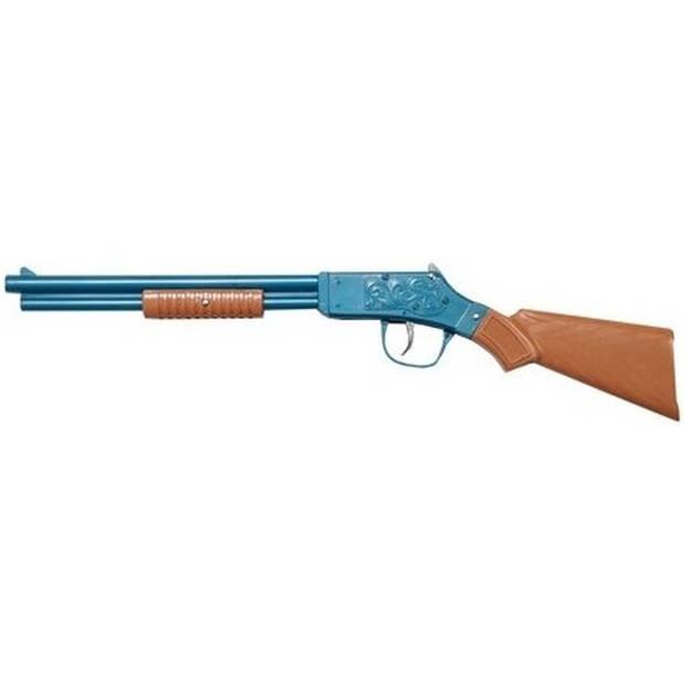 Speelgoed shotgun geweer blauw 50 cm