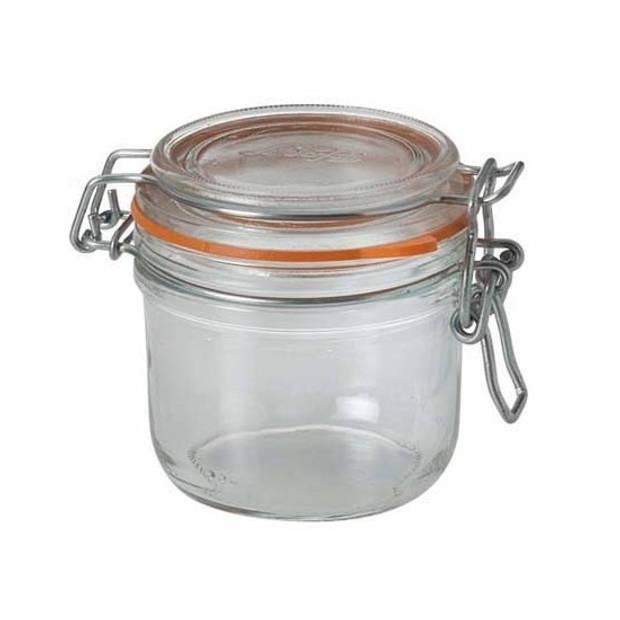 6x stuks Weckpotten/inmaakpotten met klepdeksel 0.2 liter