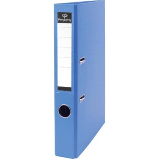 Pergamy ordner, voor ft A4, uit PP en papier, rug van 5 cm, lichtblauw