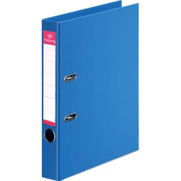 Pergamy ordner, voor ft A4, volledig uit PP, rug van 5 cm, blauw