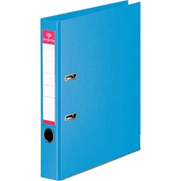 Pergamy ordner, voor ft A4, volledig uit PP, rug van 5 cm, lichtblauw