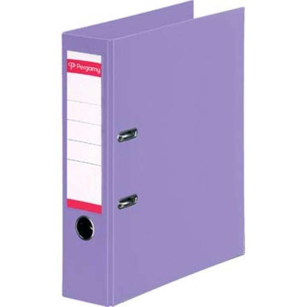 Pergamy ordner, voor ft A4, volledig uit PP, rug van 8 cm, violet