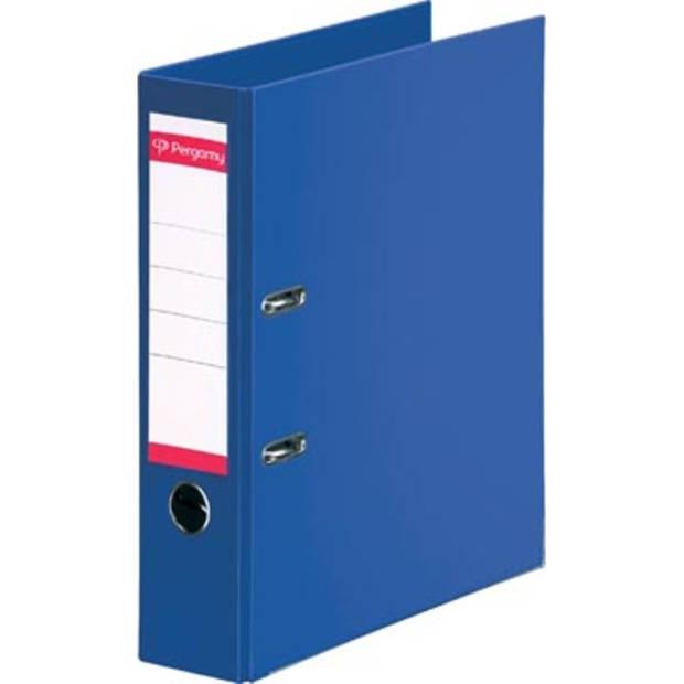 Pergamy ordner, voor ft A4, volledig uit PP, rug van 8 cm, donkerblauw