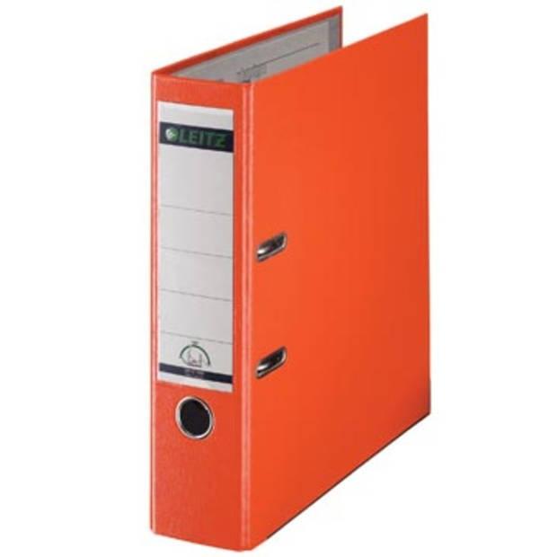Leitz ordner oranje, rug van 8 cm