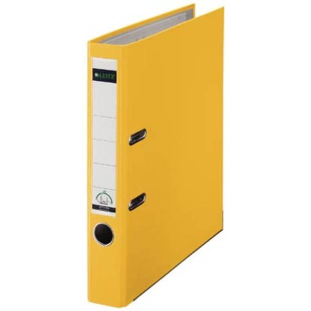 Leitz ordner geel, rug van 5 cm