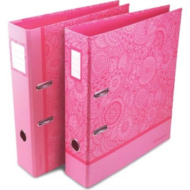 Pergamy Mandala ordner ft A4, roze