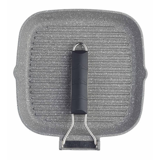 Gietaluminium Grillpan 20cm - Opvouwbaar Handvat - MasterClass