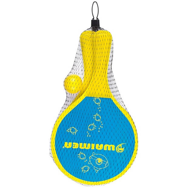 Waimea beachball set Animal 3-delig geel/blauw