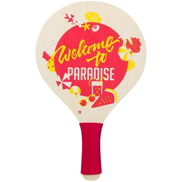 Waimea beachball set Paradise 4-delig rood/geel