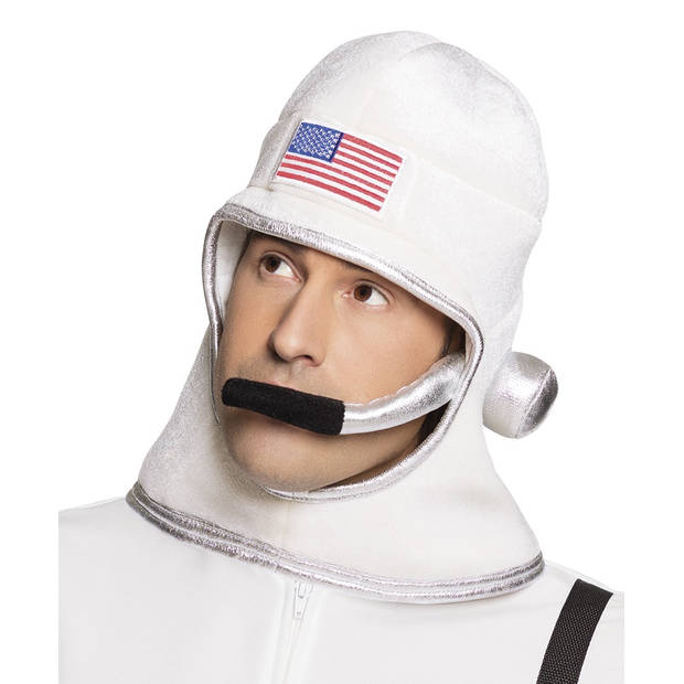Boland hoed astronaut heren wit one size