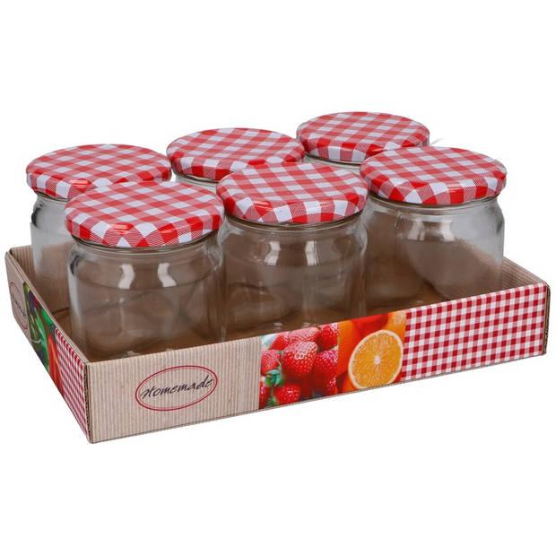 Bewaarpotten/weckpotten set 6 stuks - 6 jampotten van ongeveer 350 ml