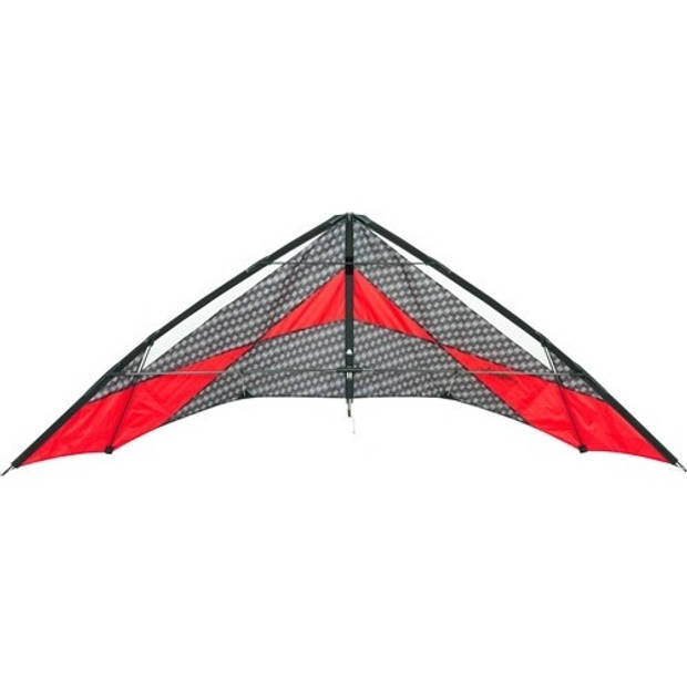 HQ Kites tweelijnsvlieger Arrow 220 cm grijs/rood