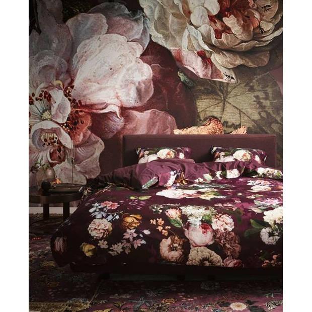 Essenza dekbedovertrek Fleur - Burgundy - 1-Persoons 140x200/220 cm