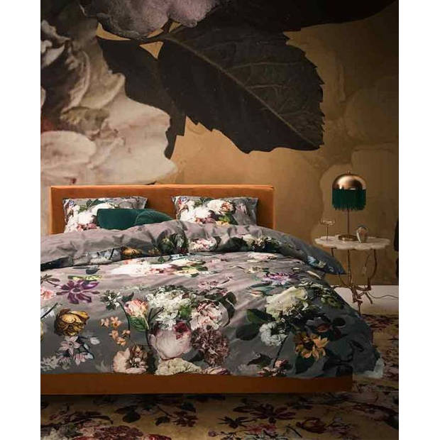 Essenza dekbedovertrek Fleur - Taupe - Lits-jumeaux 240x200/220 cm