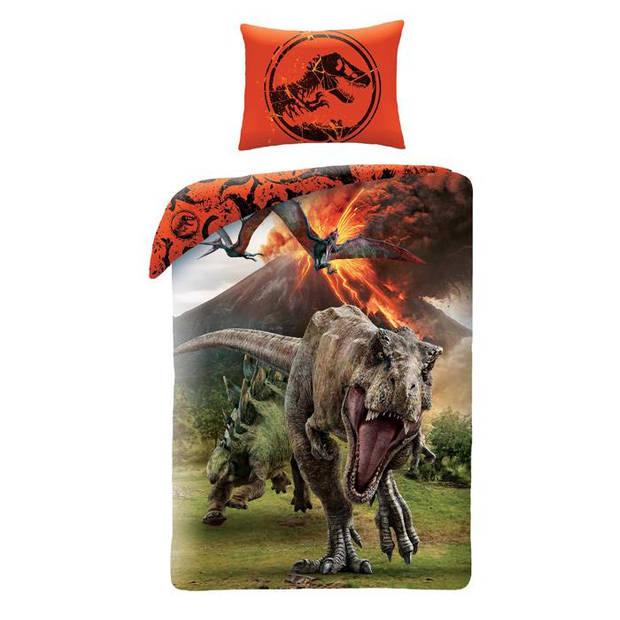 Jurassic World dekbedovertrek Volcano - Multi - 1-Persoons 140x200 cm