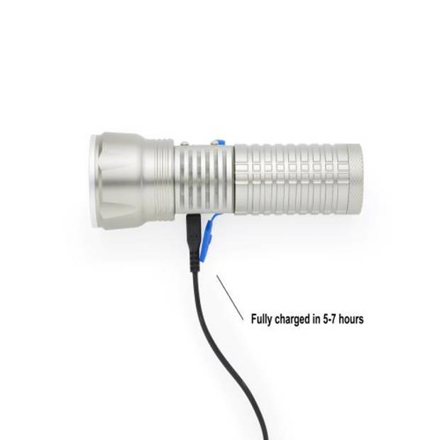 MacGyver 'EXTREME' Zaklamp Oplaadbaar USB Powerbank-functie 250 meter 5W CREE LED-lamp