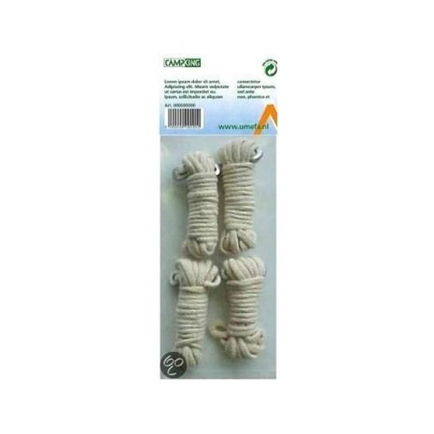 Umefa scheerlijnen katoen 3 mm 4 stuks wit