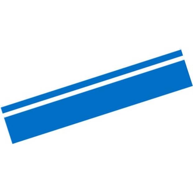 AutoStyle sticker RacingStripe150 30+100 mm 5 meter blauw