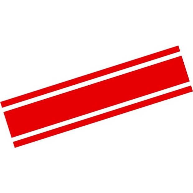 AutoStyle sticker RacingStripe150 20+90+20 mm 5 meter rood