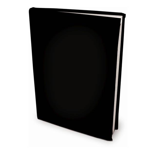 Rekbare boekenkaften - Zwart - A4 - 6 stuks