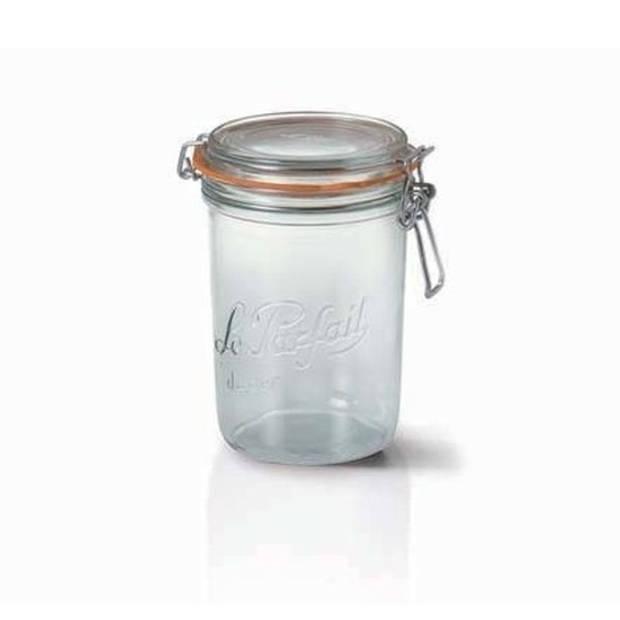 Weckpotten/inmaakpotten met klepdeksel 1 liter - 17.5 cm hoog en 10 cm breed - Vaatwasser bestendig