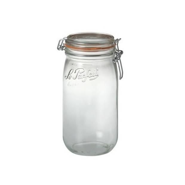 Weckpotten/inmaakpotten met klepdeksel 1.5 liter