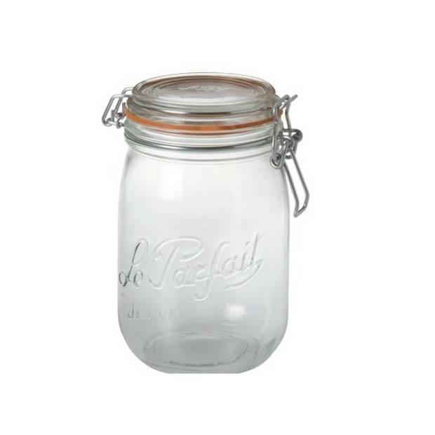 Weckpotten/inmaakpotten met klepdeksel 1 liter