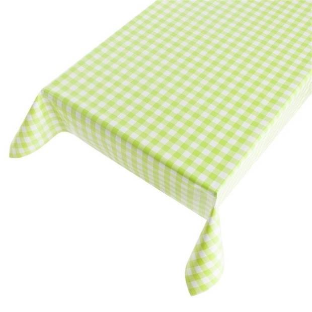 Buiten tafelkleed/tafelzeil groene ruiten 140 x 170 cm - Rechthoekig - Tuintafelkleed tafeldecoratie