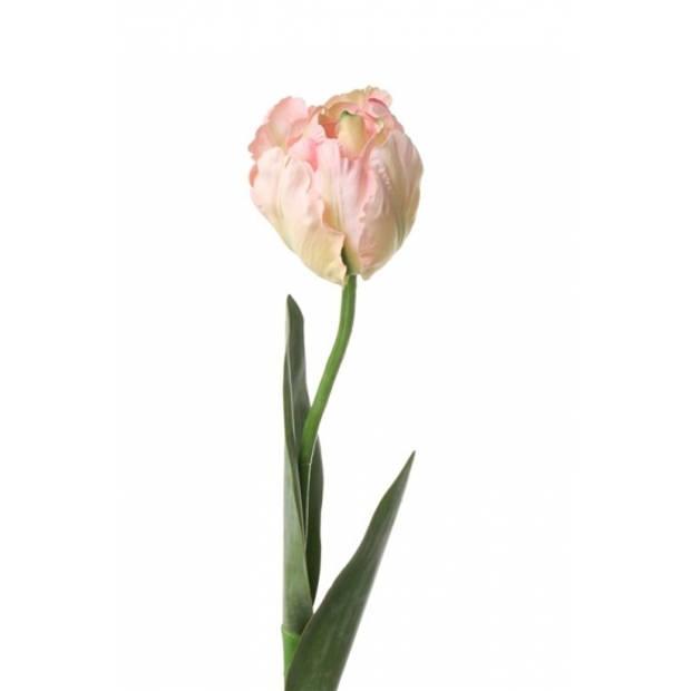 Lichtroze kunst tulp / kunstbloem 62 cm - Luxe namaak bloemen