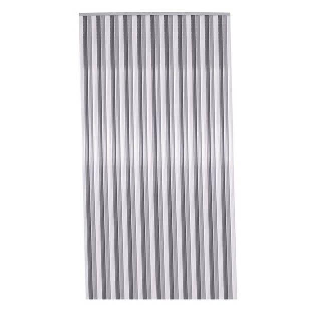 Vliegengordijn/deurgordijn zwart/wit/grijs 90 x 200 cm - Insectenwerende vliegengordijnen