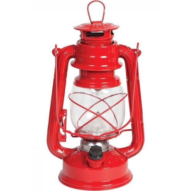 Rode LED stormlantaarns 24 cm