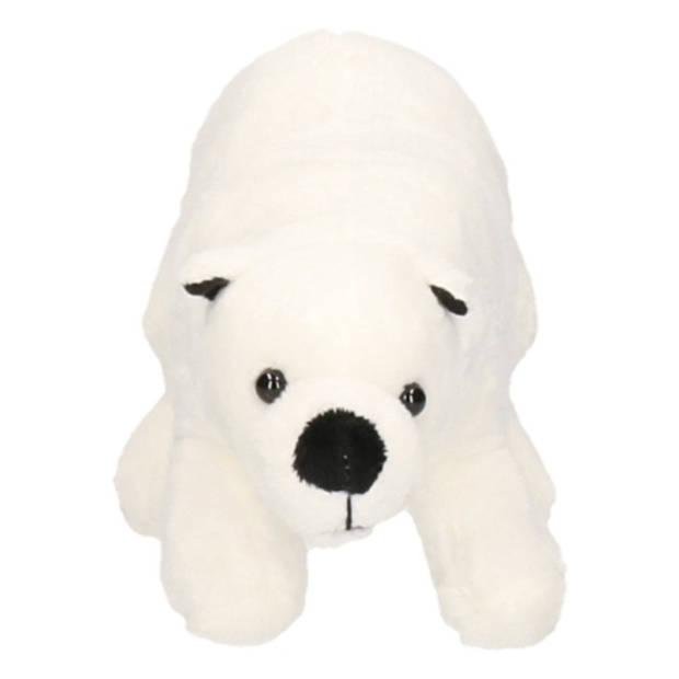 Pluche ijsbeer knuffel wit - 21 cm - ijsberen knuffeldier