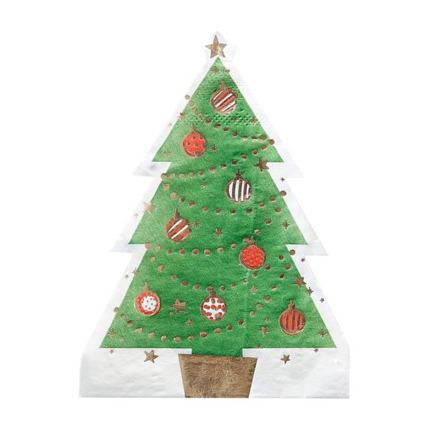 Kerstboom servetten (12 stuks)