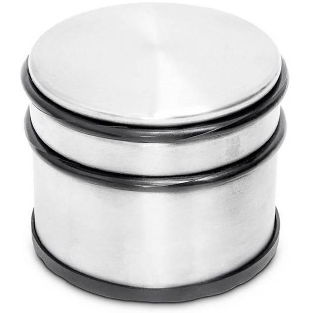 Ronde deurstopper met rubberen bescherming - 9 x 7.5 cm - 1.1 kg - deurstop