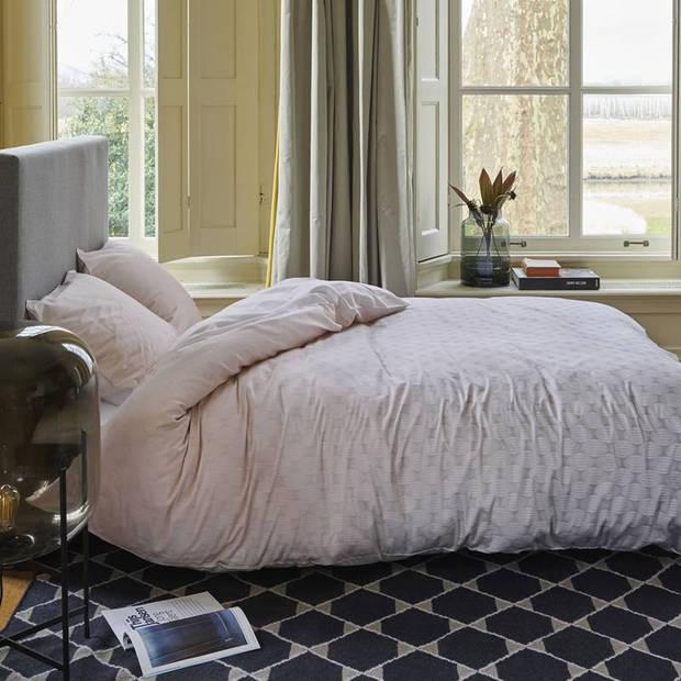 Esprit Nouni dekbedovertrek - 100% katoen-satijn - 1-persoons (140x200/220 cm + 1 sloop) - 1 stuk (60x70 cm) - Roze