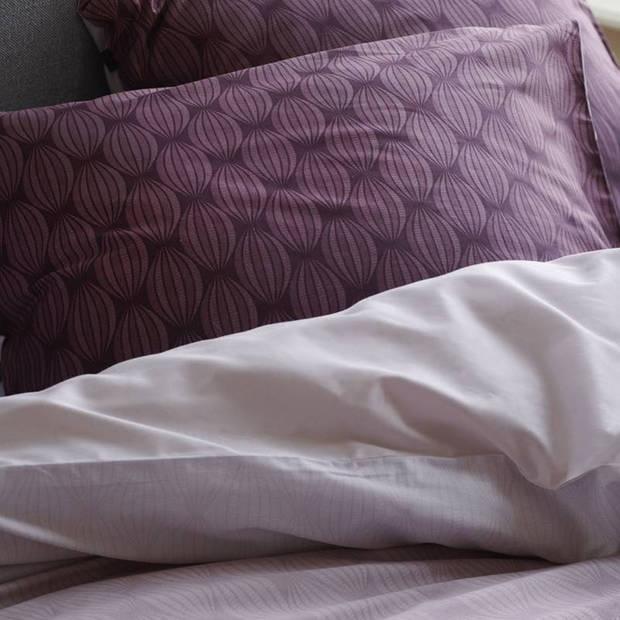 Esprit Nouni dekbedovertrek - 100% katoen-satijn - 1-persoons (140x200/220 cm + 1 sloop) - 1 stuk (60x70 cm) - Rood