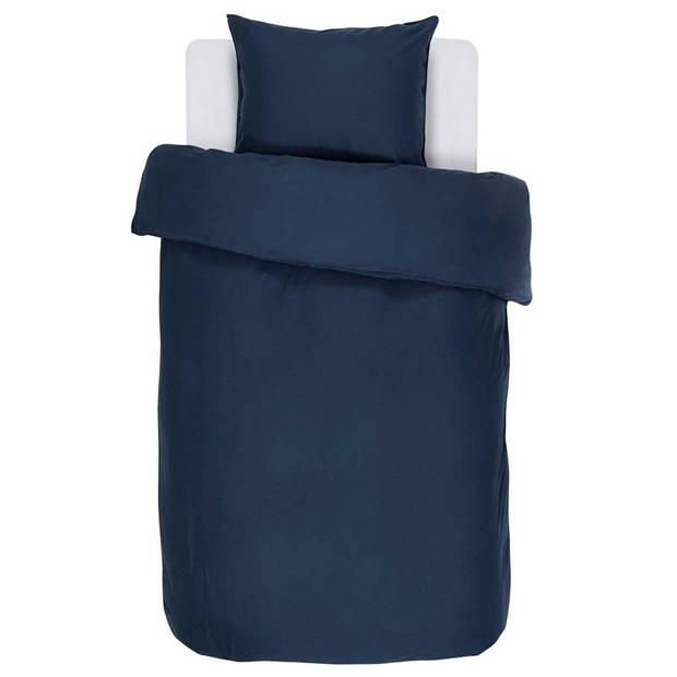 Essenza Minte dekbedovertrek - 100% katoen-satijn - 1-persoons (140x200/220 cm + 1 sloop) - 1 stuk (60x70 cm) - Blauw
