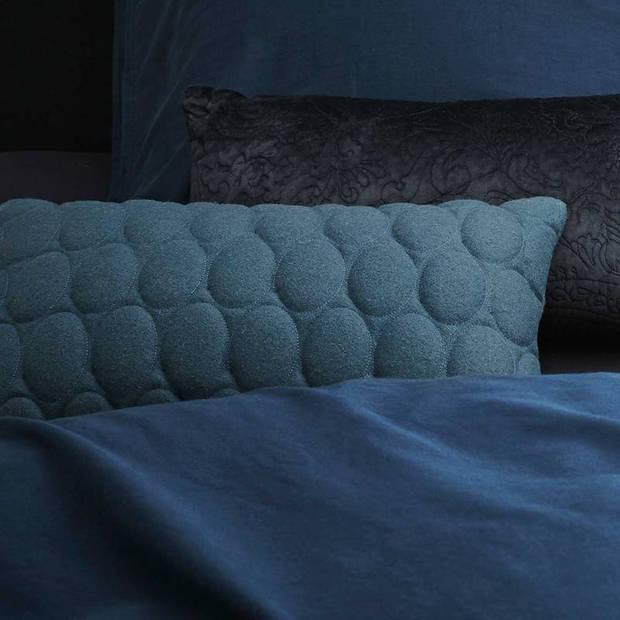 Essenza Minte dekbedovertrek - Lits-jumeaux (240x200/220 cm + 2 slopen) - Katoen satijn - Navy
