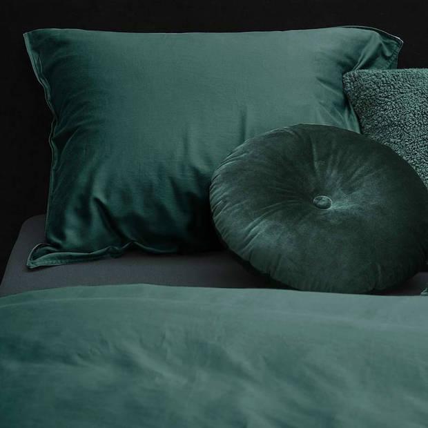 Essenza Minte dekbedovertrek - 100% katoen-satijn - 2-persoons (200x200/220 cm + 2 slopen) - 2 stuks (60x70 cm) - Groen