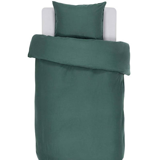 Essenza Minte dekbedovertrek - 100% katoen-satijn - 1-persoons (140x200/220 cm + 1 sloop) - 1 stuk (60x70 cm) - Groen