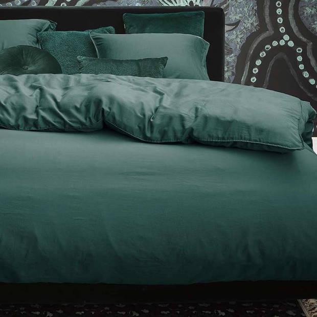 Essenza Minte dekbedovertrek - Lits-jumeaux (240x200/220 cm + 2 slopen) - Katoen satijn - Green