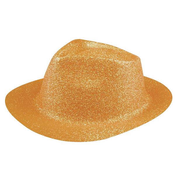 Boland hoed Sparkle unisex neonoranje one size