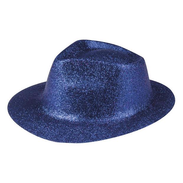 Boland hoed Sparkle unisex blauw one size