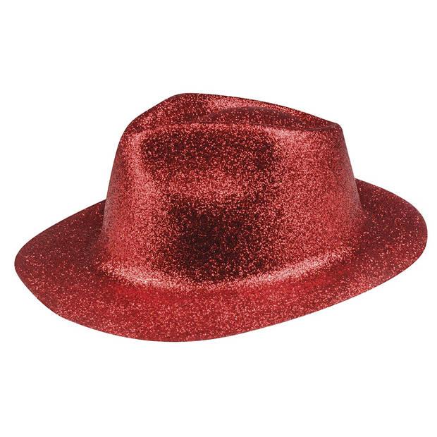 Boland hoed Sparkle unisex rood one size