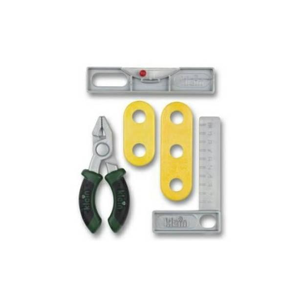 Klein speelgoed gereedschapset waterpas 5-delig
