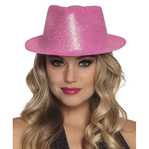 Boland hoed Sparkle unisex roze one size